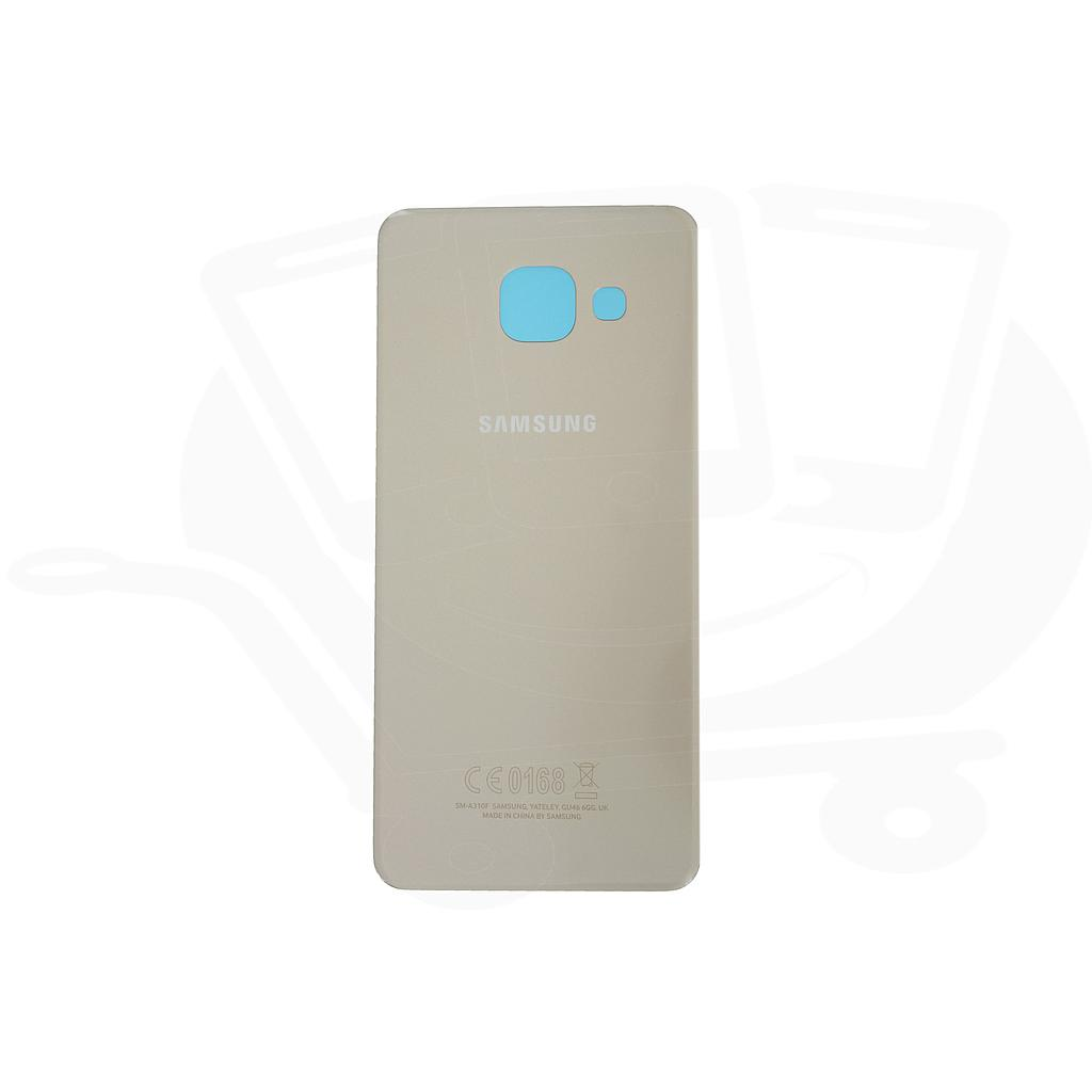 SAMSUNG GALAXY A5 (2016) BATTERY COVER - GOLD  (sku 313)
